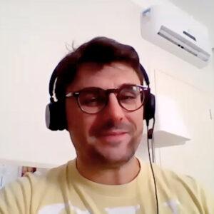 Registro fotográfico online de Tiago no Plant Talks