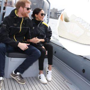 Meghan Markle e o príncipe Harry: a imagem dela usando os tênis da marca ajudaram a impulsionar as vendas em todo o mundo
