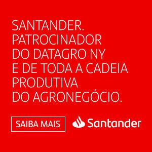 SANTANDER PATROCINADOR DO DATAGRO NY E DE TODA A CADEIA PRODUTIVA DO AGRONEGÓCIO