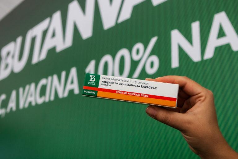 Granjas exclusivas, são o ponto de partida da matéria-prima para fabricação da ButanVac, a primeira vacina contra Covid-19 totalmente produzida no Brasil.